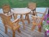 """Ąžuolinis stalas su kėdėmis ,,Country"""""""
