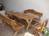 Ąžuolinių baldų komplektas
