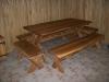 Priepirčio ąžuolinių baldų komplektas