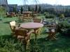 Ąžuolinis stalas su kėdėmis