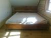 Ąžuolinė lova ,,Natūrali