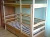Ąžuolinė dviaukštė lova